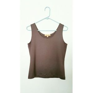 Ellen Tracy Stretch Spandex Tank Top Size Medium